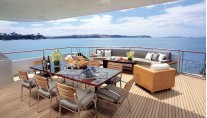 Motor yacht POLLY -  Aft Deck Dining