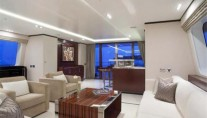 Motor yacht POLLY -  Salon looking Aft