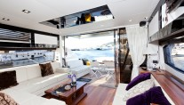 Motor yacht PULSAR - Salon looking Aft
