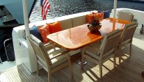 Motor yacht REFLECTIONS - Aft Deck Dining