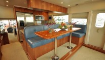 Motor yacht REFLECTIONS - Galley and Seating