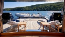 Motor yacht REVE D OR 46M - Beach club view out