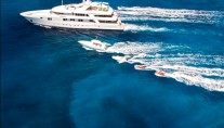 Motor yacht RHINO  -  Cruising with tenders and Jetskis