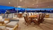 Motor yacht RHINO -  Bridge Deck Al Fresco Dining