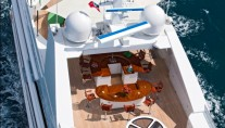 Motor yacht RHINO -  Sundeck From Above