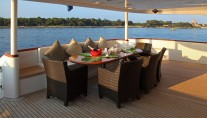 Motor yacht SEA SHELL -  Aft Deck Al Fresco Dining