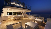 Motor yacht SEA SHELL -  Upper Aft Deck Al fresco Dining at Night