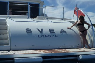 Motor yacht SVEA -  Aft View of Stern