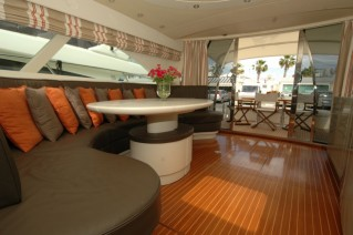 Motor yacht SWEET TITI -  Main salon looking aft