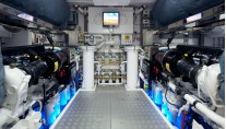 Motor yacht Star engine room