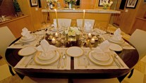 Motor yacht TRILOGY -  Dining detail
