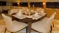 Motor yacht TRILOGY -  Formal dining