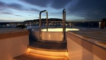 Motor yacht VERA -  Spa Pool in the Evening