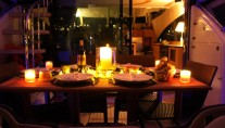 Motor yacht WAVE -  Al Fresco Dining at night
