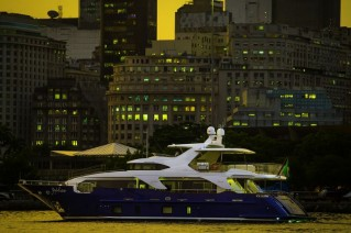 Motor yacht ZAPHIRA - side view - Image credit to Alberto de Abreu Sodre