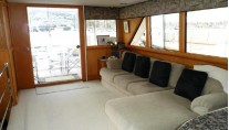 Motor yacht ZIA -  Salon looking Aft