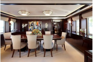 Motoryacht Perle Noire (ex Willpower) Interior - Dining area