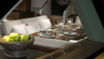Mystere yacht - dining