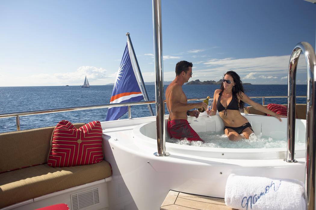 Luxury Yacht Charter NAMOH - Jacuzzi Pool - Savio Interiors ...