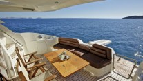 NELL MARE - Aft deck and alfresco dining