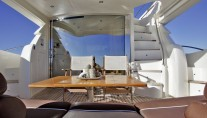 NELL MARE - Aft deck with steps to flybridge