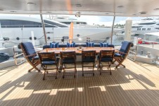 NICOLE EVELYN - Aft deck alfresco dining