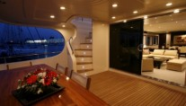 NIRA - Aft Deck in the Evening