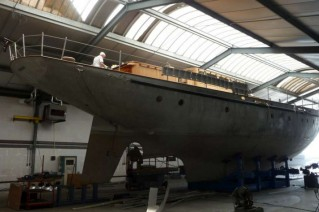 Neorion Yacht at the start of construction - Photo by Oliver van Meer Design BV