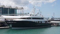 New Alloy super yacht HEY JUDE (AY54) on the water