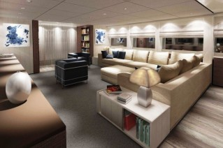 New Sanlorenzo SL94 motor yacht series Main Salon