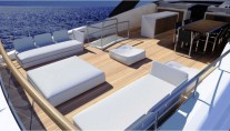 New Sanlorenzo SL94 motor yachts spacious Flybridge