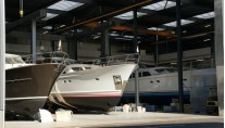 Newly refitted Mulder 73 Wheelhouse motor yacht Float ready to leave the shed