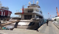 Newly refitted Sanlorenzo 46Steel super yacht PICK UP (ex CAROL) - Photo credit to Rossinavi
