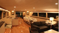 Nymphaea -  Saloon looking Aft