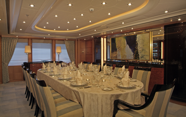 Dining Room Image Gallery – Luxury Yacht Browser | by CHARTERWORLD ...
