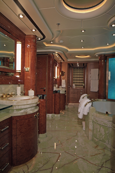 OASIS Master Bathroom Luxury Yacht Image