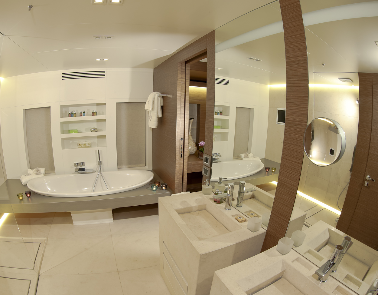 Ipanemas Ouranos Master Bathroom Luxury Yacht Browser