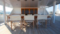 OURANOS TOO -  Aft Deck Dining