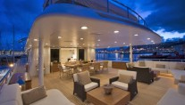 Oceanco DEEP BLUE II - Upper deck exterior lounge