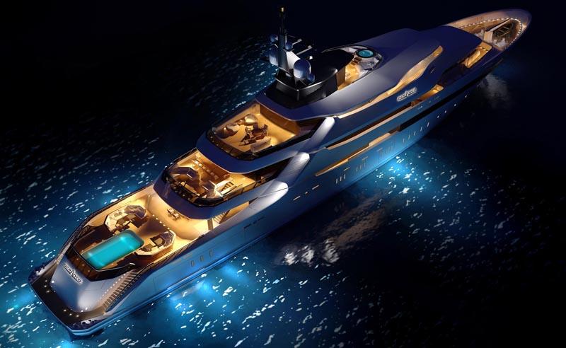 Yachts At Night Yacht St. Princ...