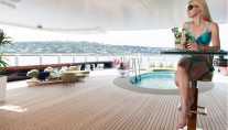 Oceanco Yacht NIRVANA -  Sundeck Bar and Pool