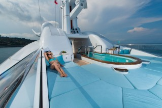 Oceanco Yacht NIRVANA -  Sundeck Pool and Sunbeds