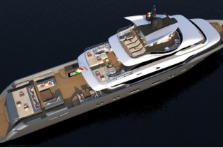 Oceanic Yachts 140 superyacht Hull no. 1 - Top view