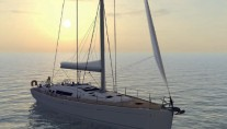 Oceanis 54 at sunset