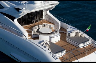 On board luxury yacht Rush