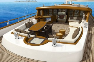 On board of the luxury Archipelago yacht ZanZiba