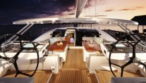 On board of the stunning first Oyster 100 sailing yacht Sarafin - Copyright Oyster Marine