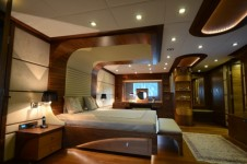 One of the luxurious cabins aboard My Steel superyacht