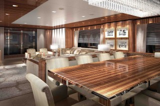 Only One yacht - dining area