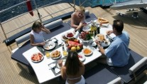 Oracle II Dining on Aft Deck